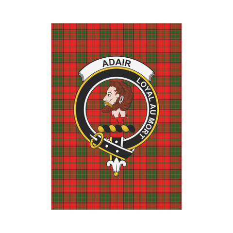 Image of Adair Clan Badge Tartan Garden Flag