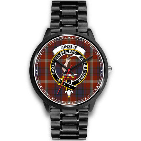 Ainslie Clan Badge Tartan Watch