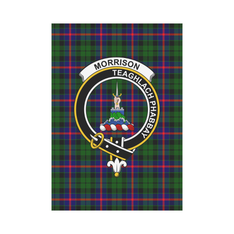 Image of Morrison  Clan Badge Tartan Garden Flag
