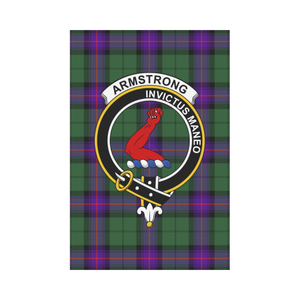 Armstrong Clan Badge Tartan Garden Flag