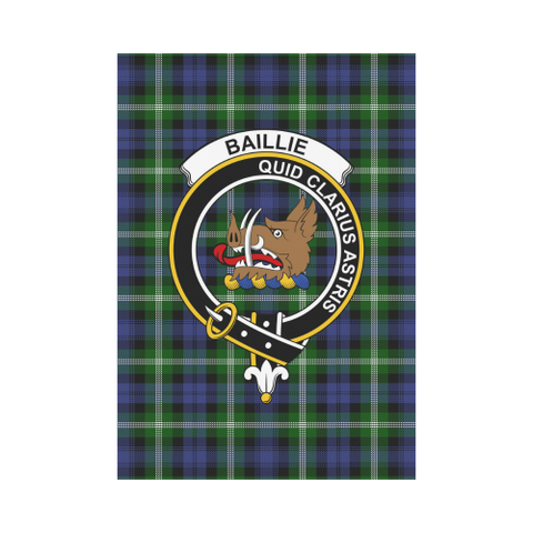 Baillie Clan Badge Tartan Garden Flag