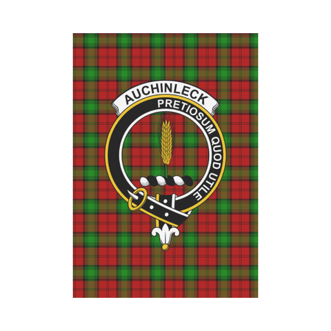 Image of Auchinleck Clan Badge Tartan Garden Flag