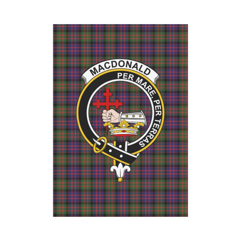 Image of MacDonald Clan Badge Tartan Garden Flag