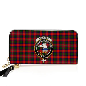 Belshes Clan Badge Tartan Zipper Wallet