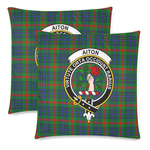Aiton  Clan Badge Tartan Pillow Cover