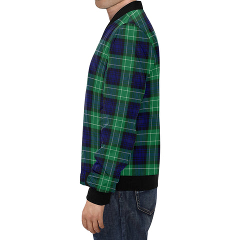Abercrombie Tartan Bomber Jacket for Men H01