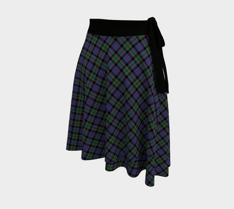 Image of Fletcher Modern Tartan Wrap Skirt