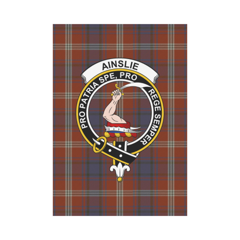 Ainslie Clan Badge Tartan Garden Flag