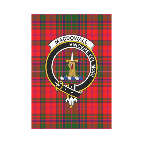 MacDowall (of Garthland) Clan Badge Tartan Garden Flag