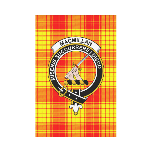 MacMillan Clan Clan Badge Tartan Garden Flag