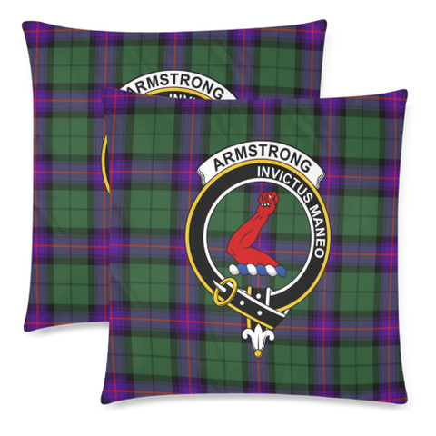 Image of Armstrong Clan Badge Tartan Pillow Cover