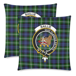 Baillie Clan Badge Tartan Pillow Cover