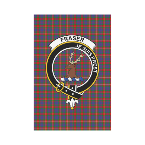 Image of Fraser of Lovat Clan Badge Tartan Garden Flag