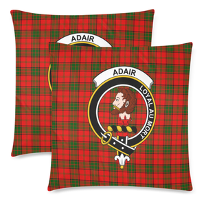 Adair  Clan Badge Tartan Pillow Cover