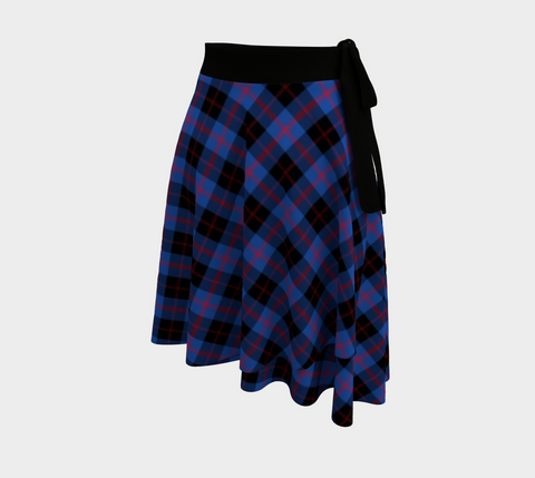 Image of Angus Modern Tartan Wrap Skirt