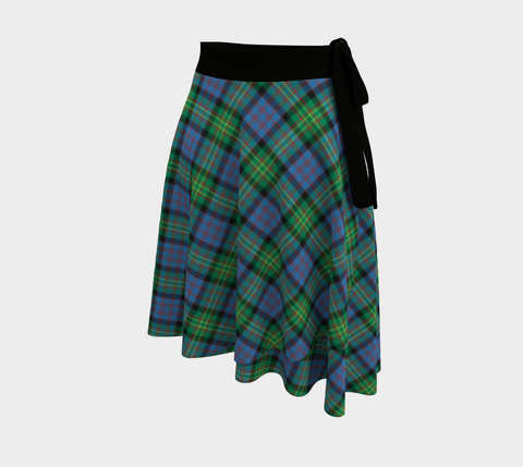 Image of Bowie Ancient Tartan Wrap Skirt
