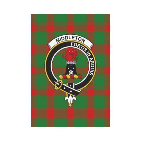 Image of Middleton  Clan Badge Tartan Garden Flag