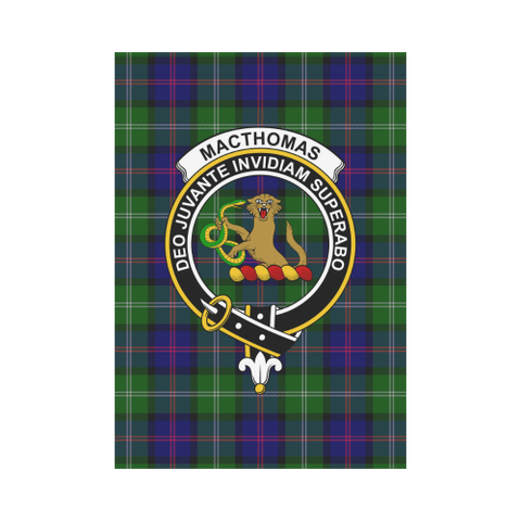 Image of MacThomas  Clan Badge Tartan Garden Flag