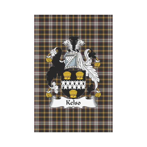 Image of Kelso Clan Badge Tartan Garden Flag