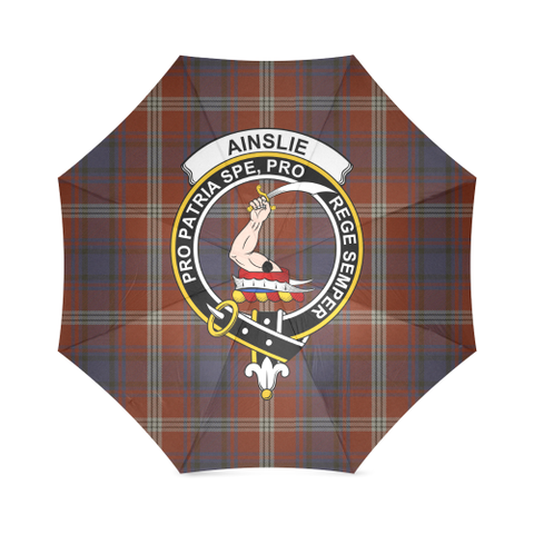 Ainslie  Clan Badge Tartan Umbrella