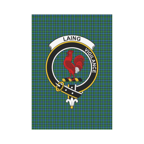 Laing Clan Badge Tartan Garden Flag
