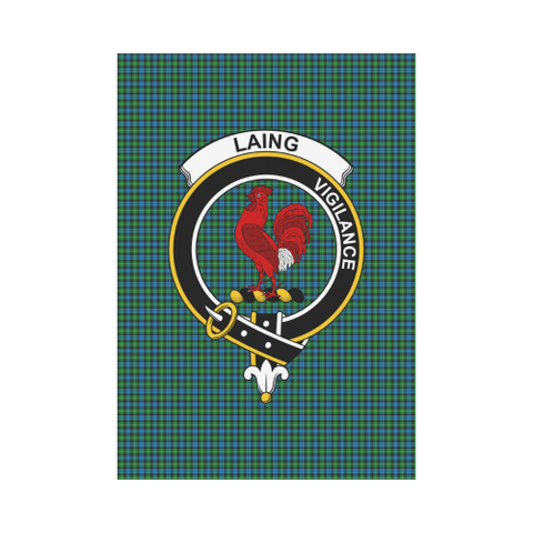 Image of Laing Clan Badge Tartan Garden Flag