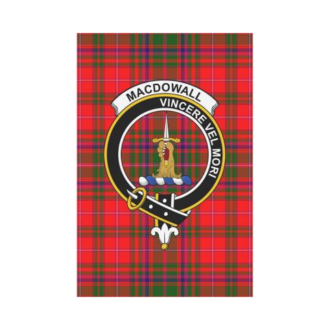 Image of MacDowall (of Garthland) Clan Badge Tartan Garden Flag