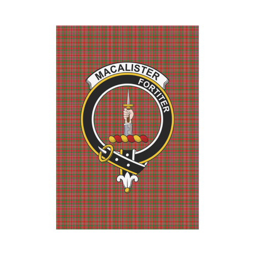 MacAlister Clan Badge Tartan Garden Flag