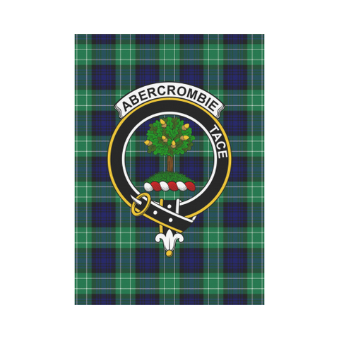 Image of Abercrombie Clan Badge Tartan Garden Flag