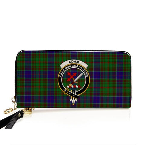 Adam Clan Badge Tartan Zipper Wallet