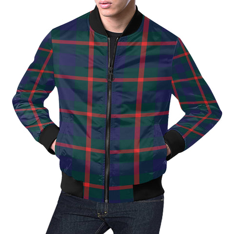 Agnew Modern Tartan Bomber Jacket for Men H01