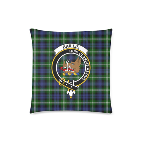 Image of Baillie Clan Badge Tartan Pillow Cover
