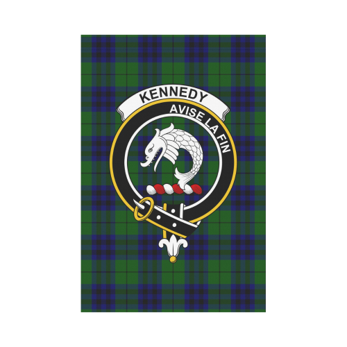 Kennedy Clan Badge Tartan Garden Flag
