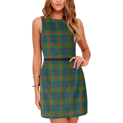 Aiton Tartan Sleeveless Dress H01