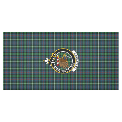 Bannatyn  Clan Badge Tartan TableCloths