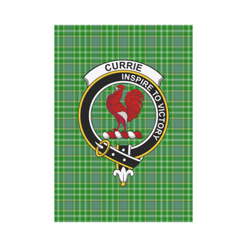 Currie Clan Badge Tartan Garden Flag