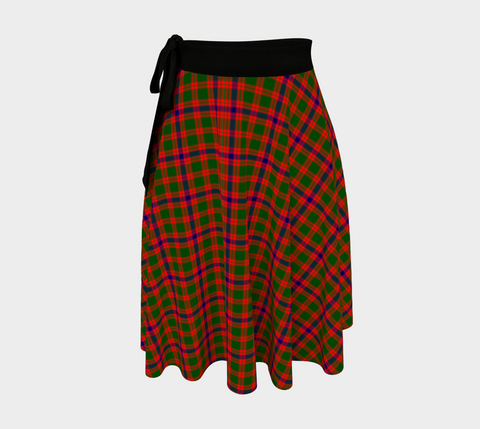 Image of Skene Modern Tartan Wrap Skirt