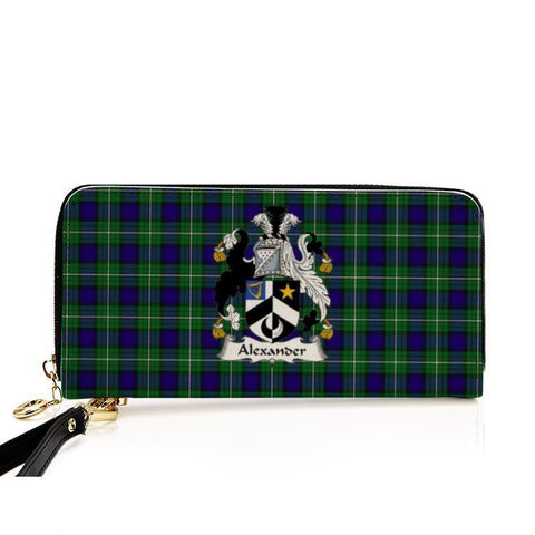 Alexander Clan Badge Tartan Zipper Wallet