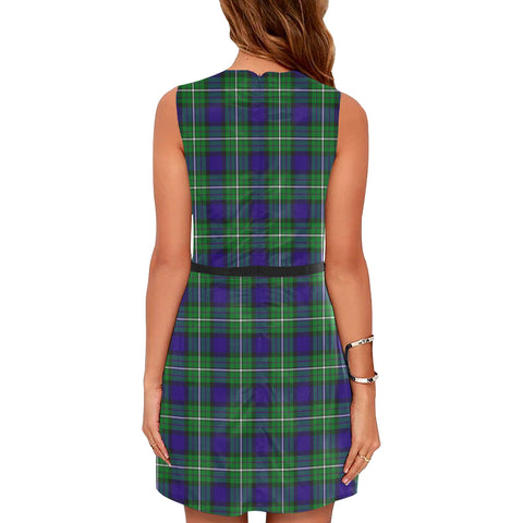 Image of Alexander Tartan Sleeveless Dress H01