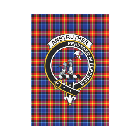 Image of Anstruther Clan Badge Tartan Garden Flag
