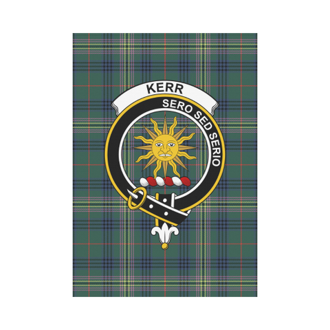 Image of Kerr Clan Badge Tartan Garden Flag