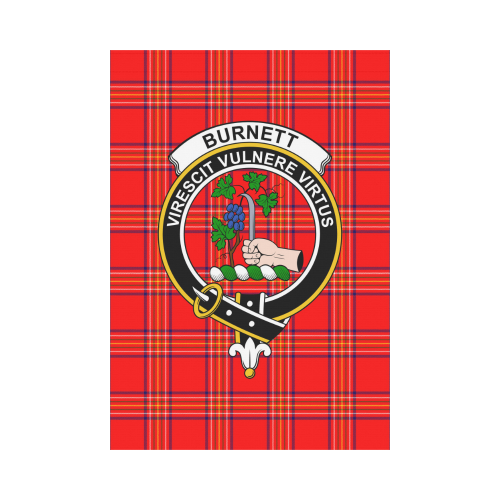Burnett Clan Badge Tartan Garden Flag