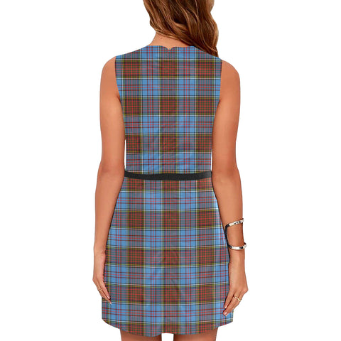 Image of Anderson Modern Tartan Sleeveless Dress H01