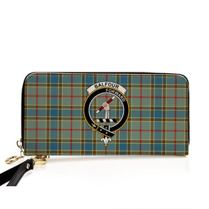 Balfour Blue Clan Badge Tartan Zipper Wallet