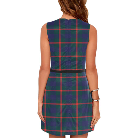 Image of Agnew Tartan Sleeveless Dress H01