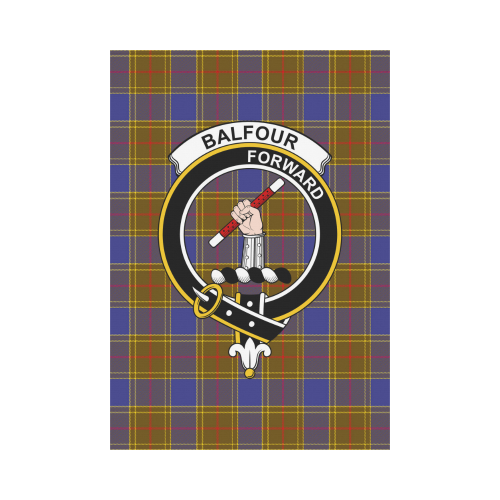 Balfour Clan Badge Tartan Garden Flag