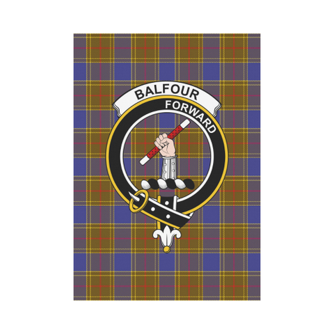 Image of Balfour Clan Badge Tartan Garden Flag