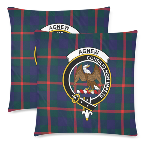 Image of Agnew Clan Badge Tartan Pillow Cover