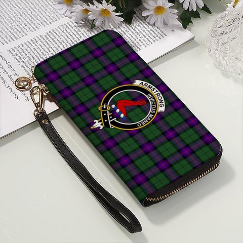 Amstrong  Clan Badge Tartan Zipper Wallet