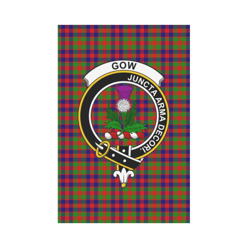Gow of Skeoch Clan Badge Tartan Garden Flag